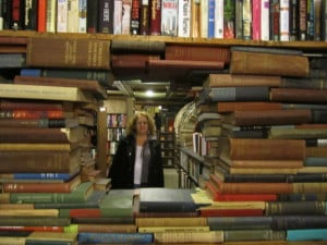 The author at The Last Bookstore in downtown Los Angeles