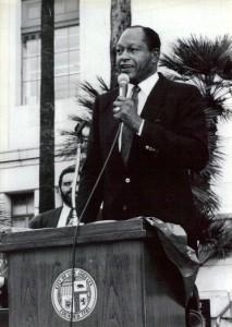 Bradley at podium