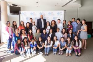 John Amaechi with AMA students